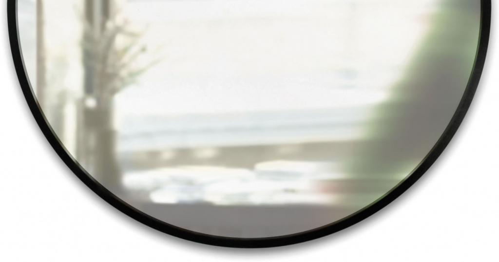 Spiegel Rond Zwart : Wandspiegel hub rund schwarz umbra kaufen lilianshouse